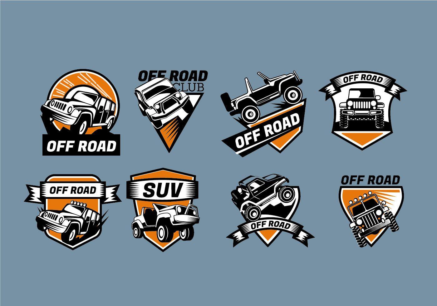 Logo Vector Sign Jeep Badges Logos, Car logo design