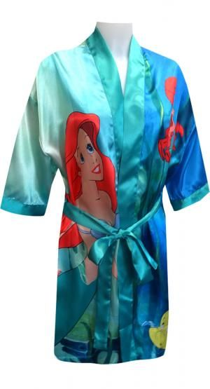 cc540fb90c Disney Little Mermaid Princess Ariel Satin Robe Beautiful and special! This gorgeous  satin robe for ladies features Ariel