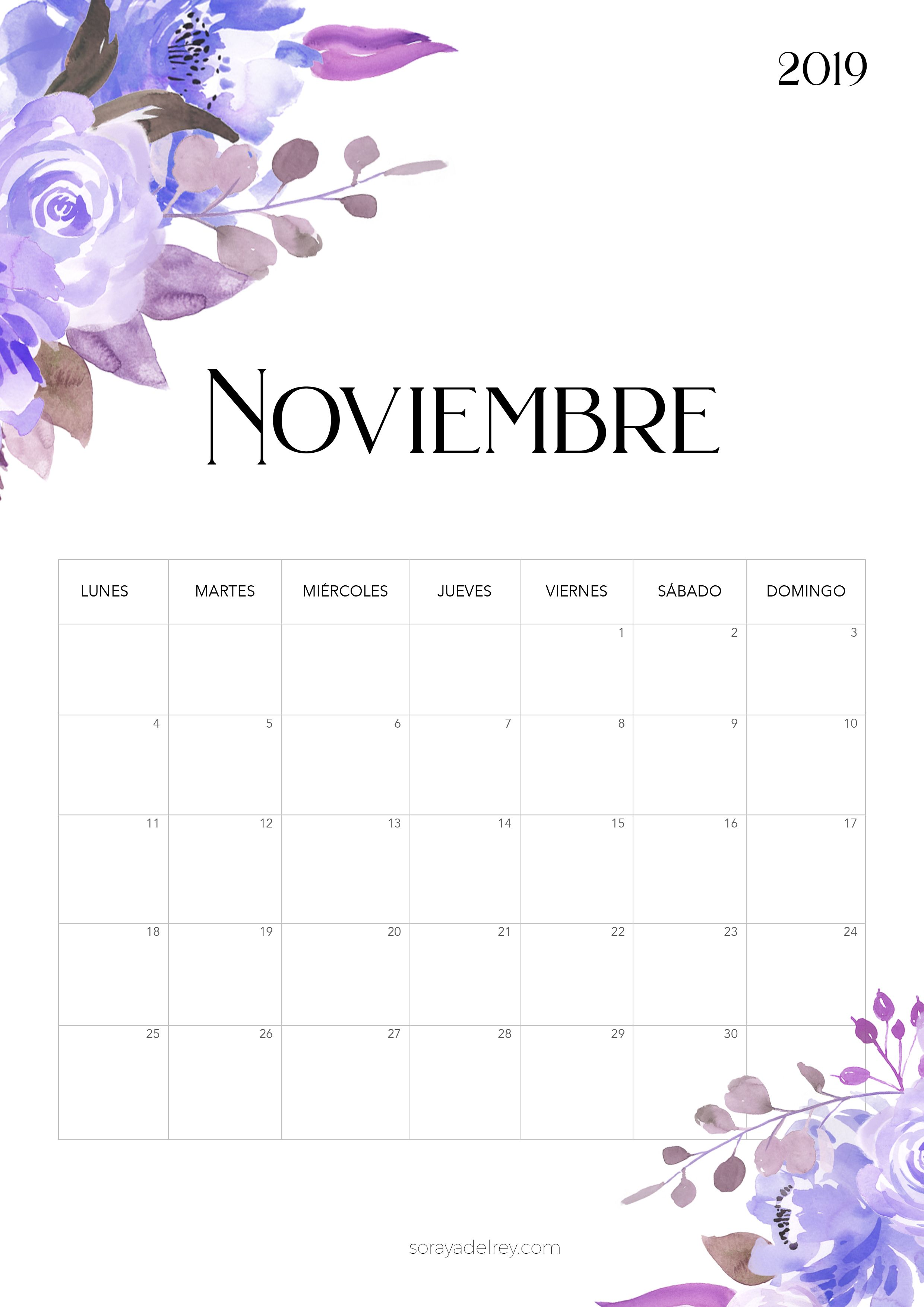 Calendario Noviembre 2019.Calendario Para Imprimir 2018 2019 Stranichki Dlya Bloknotov
