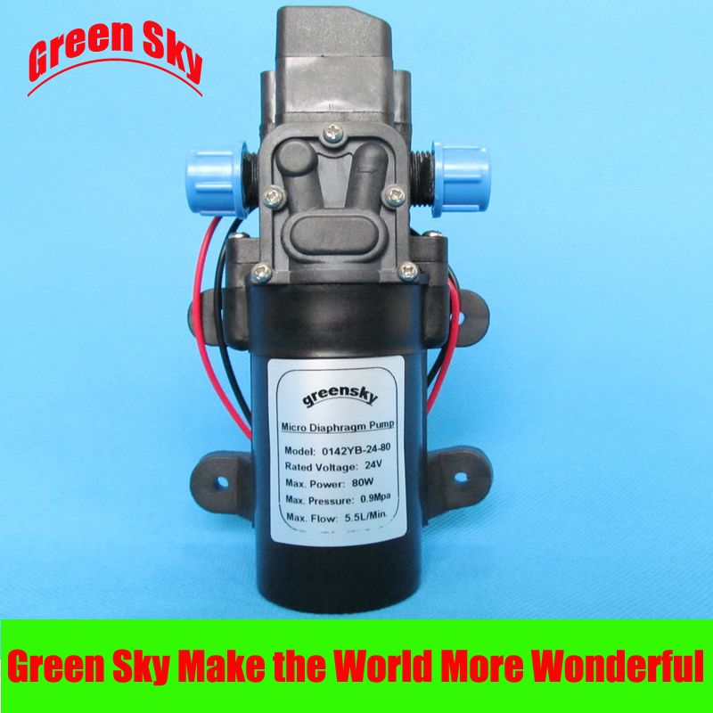 5 5l Min 24v Dc 80w High Pressure Electric Sprayer Pump For Car Washing Medical Chemical Equipment Lawn And Gard Electric Water Pump Diaphragm Pump Water Pumps