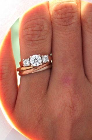 92b2bfa8f71 wedding band idea with cartier trinity ring