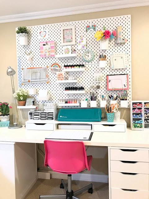 Craft Room Organization Makeover: IKEA Skadis Pegboard