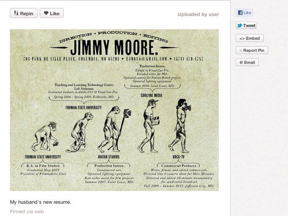 7 cool resumes business insider found on pinterest   sent