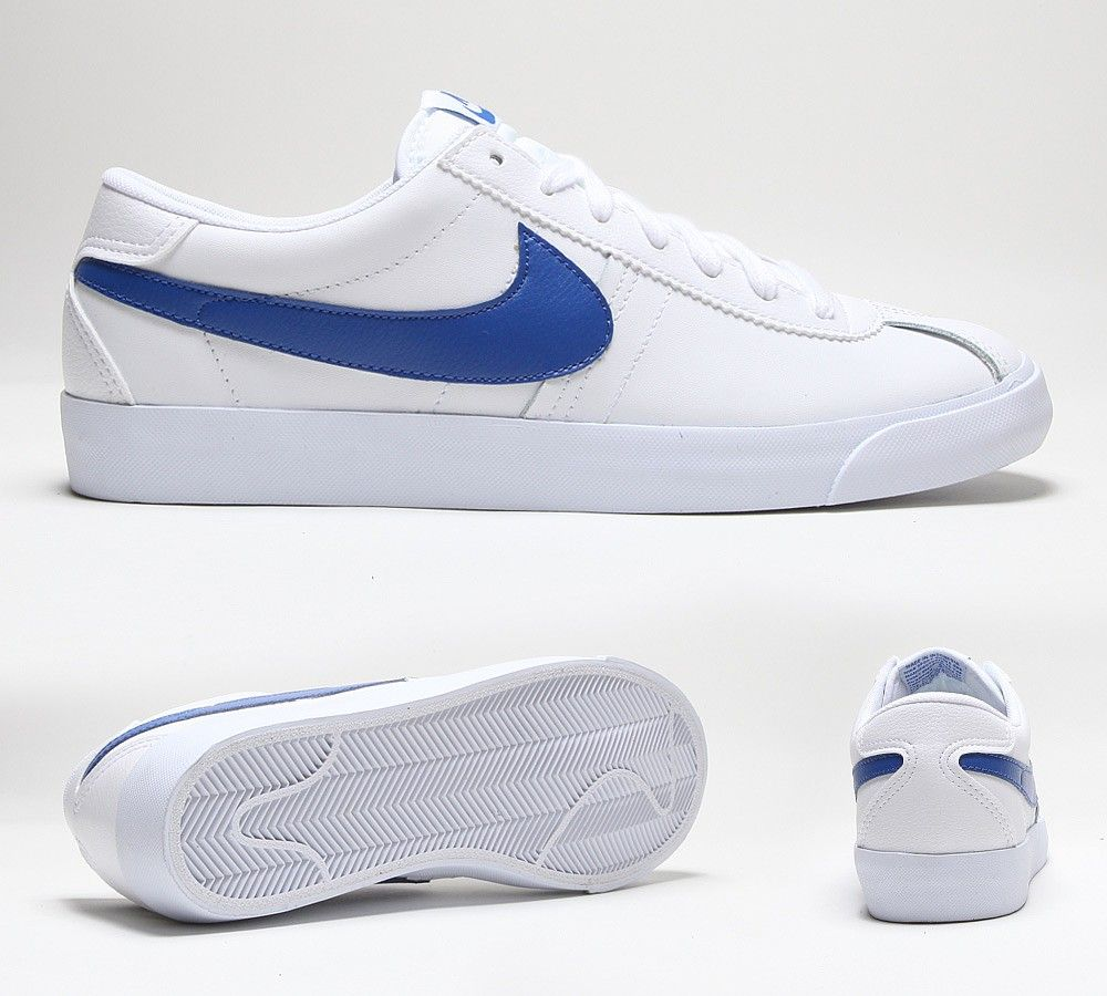 Nike Bruin Low Vintage Trainer | White / Game Royal |