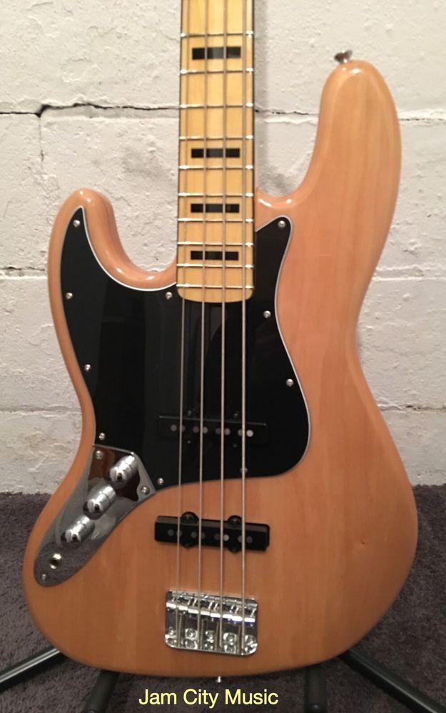 Fender Squier Vintage Modified Jazz Bass 70s Left Handed Lefty Lh Natural Squier Guitar Fender Squier