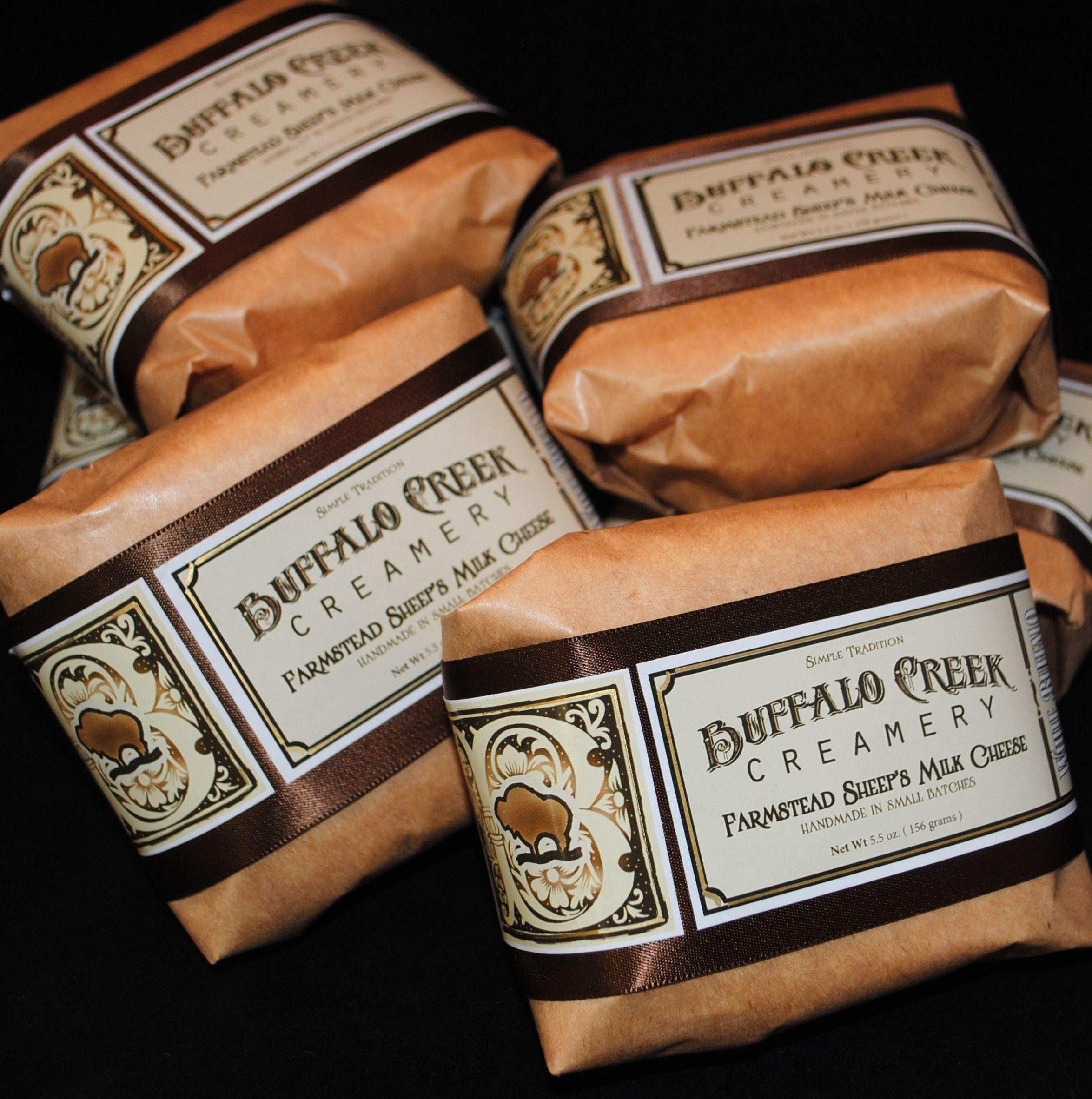 Farmstead sheeps milk cheese from buffalo creek creamery