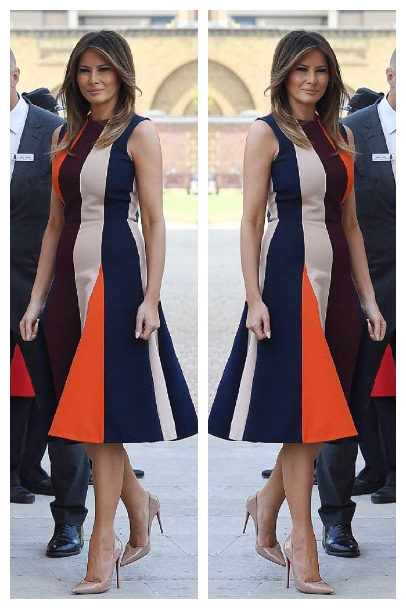 First Lady Melania Trump Would Like To See This Dress Worn With Navy Heels Instead Trump Fashion Chic Outfits Fashion