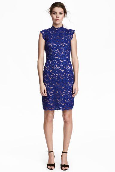 Ongekend Kanten jurk - Kanten jurk blauw, Kanten jurk en Jurken EW-97