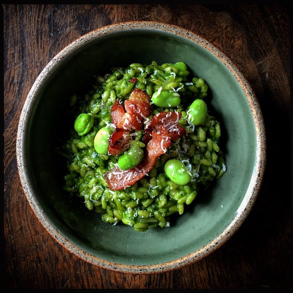 """Matt Inwood on Twitter: """"Parsley, bacon and broad bean risotto from @RosieFoodie's very fine 'A Lot On Her Plate' (@HardieGrantUK). #Lunch https://t.co/hLbybwvdzj"""""""