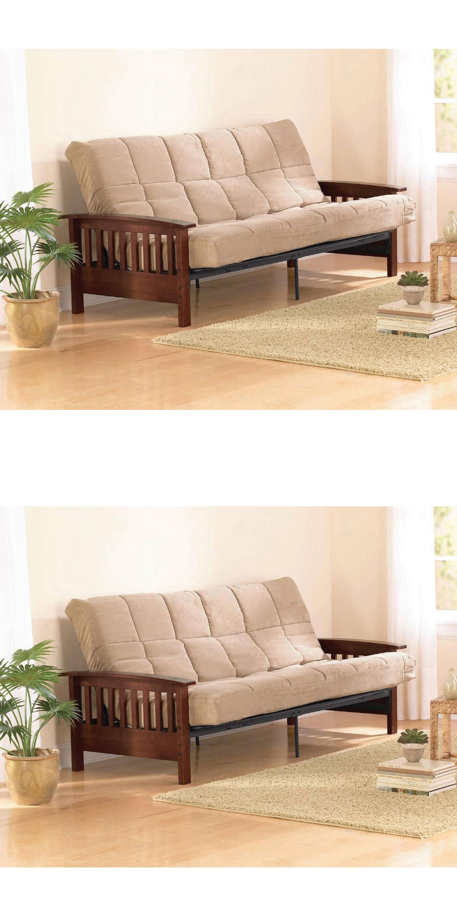 Futons Frames and Covers 131579: Convertible Futon Sofa Bed Couch Full Size  Mattress Solid Living