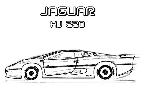 Drawing Jaguar Xj 220 Cars Coloring Pages Bulk Color