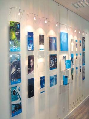 Brandstand Nz Cable Wall Mounted Poster Display Oac