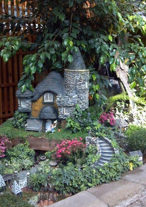 Proyecto decorar el jard n con casitas deco diy ideas for Decoracion jardin gnomos
