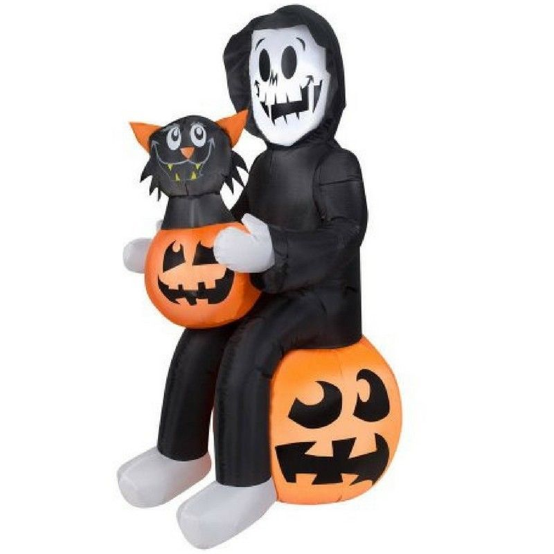 Halloween Airblown Inflatable Reaper\u0027s Surprise 45 Feet Tall - inflatable halloween decoration