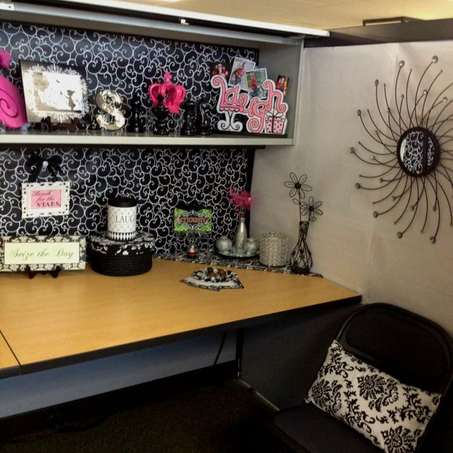 Cubicle Makeover | DIY | Office cubicle, Cubicle makeover ...