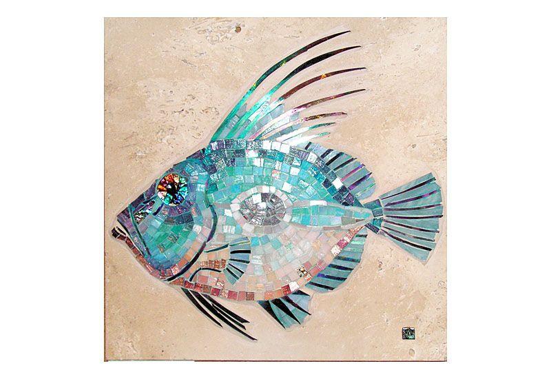 John Dory Mosaic Fish painting, John dory, Mosaic