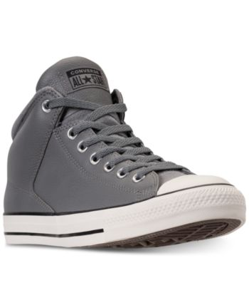 e74c523ae67f Converse Men s Chuck Taylor 70 High Street Mid-Cut Casual Sneakers from  Finish Line - Silver 12
