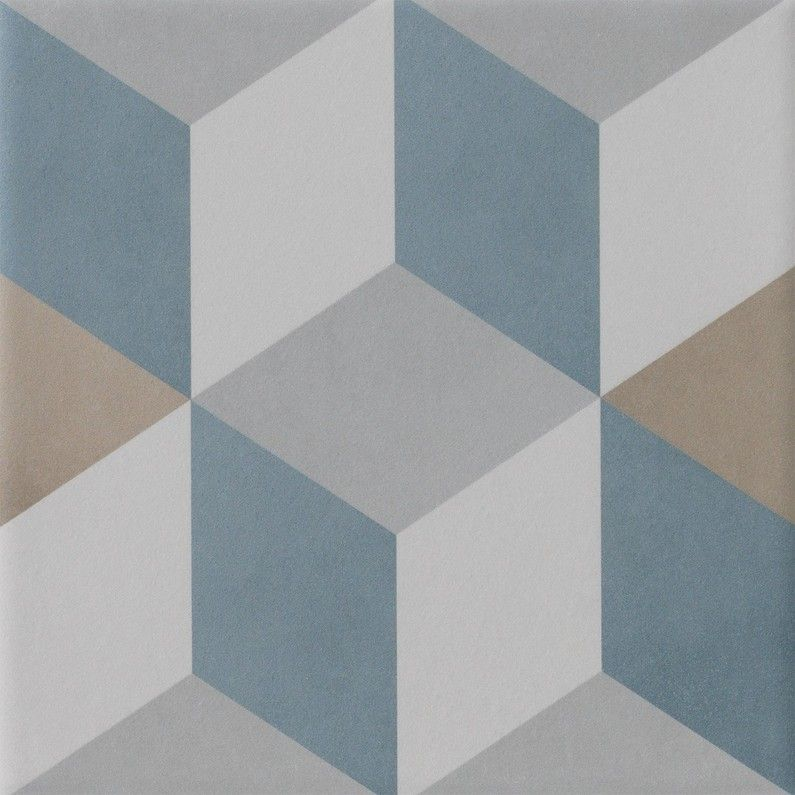 Carrelage Sol Mur Bleu Beige Effet Carreau De Ciment Patrimony Cube L 20xl 20cm Carreau De Ciment Carrelage Sol Murs Bleus