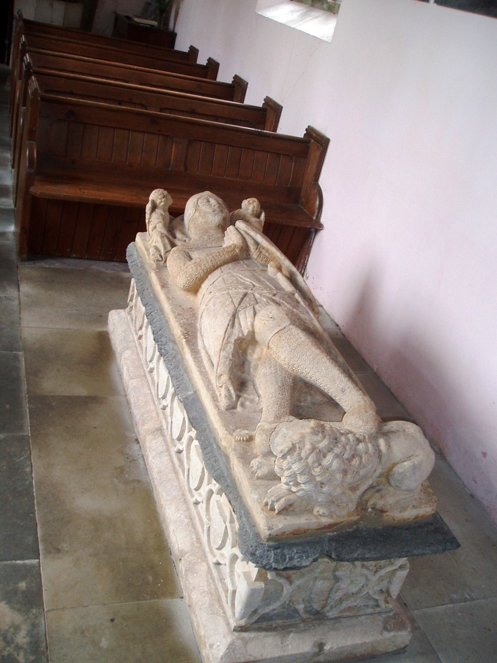 Tomb Of Knight Templar In Buslingthorpes Church Lincolnshire
