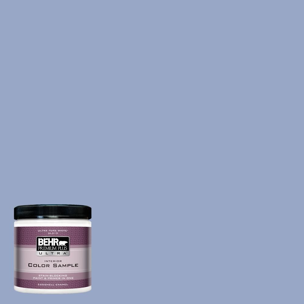 Behr Ultra 8 Oz Ppu15 13 Blue Hydrangea Eggshell Enamel Interior Paint And Primer In One Sample Ul21416 The Home Depot In 2020 Behr Premium Plus Ultra Exterior Paint Behr Marquee Paint