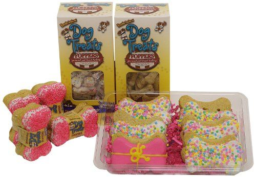 Foppers Happy Birthday 178-Piece Dog Treat Gift Set, Pink ** Click image for more details.
