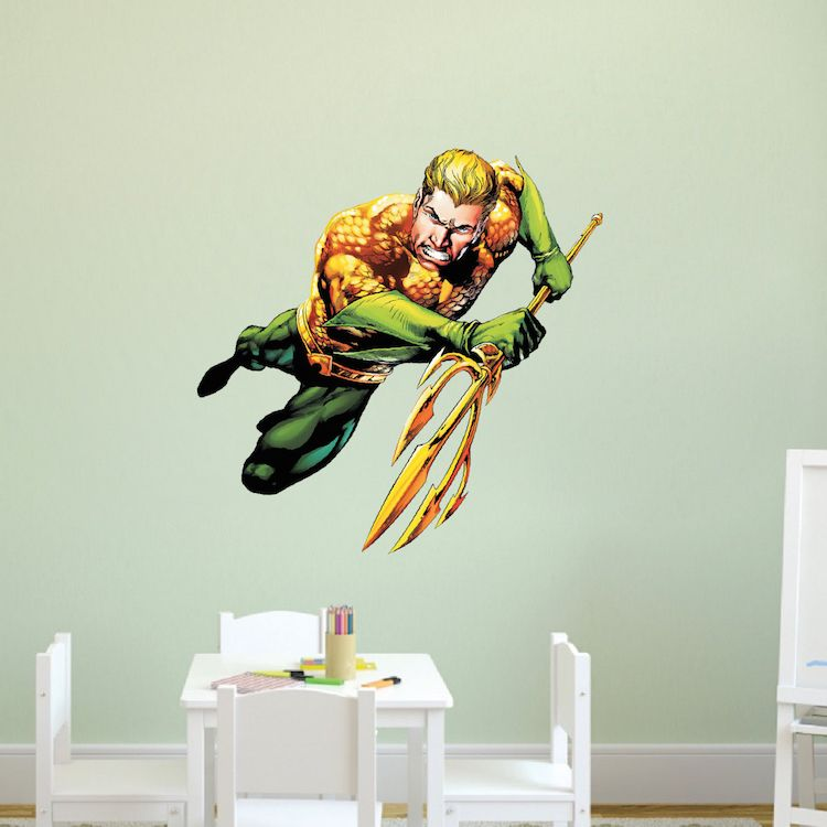 Aqua Man Superhero Wall Graphic Decal   Aquaman Wall Decal   Superhero Wall  Design   Aqua Man Bedroom Designs   Superheroes|Primedecals