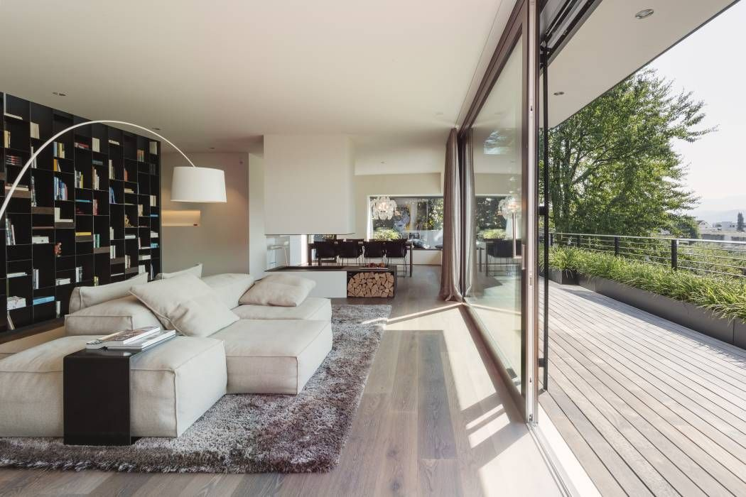 objekt 336: moderne wohnzimmer von meier architekten | mein ... - Architekt Wohnzimmer