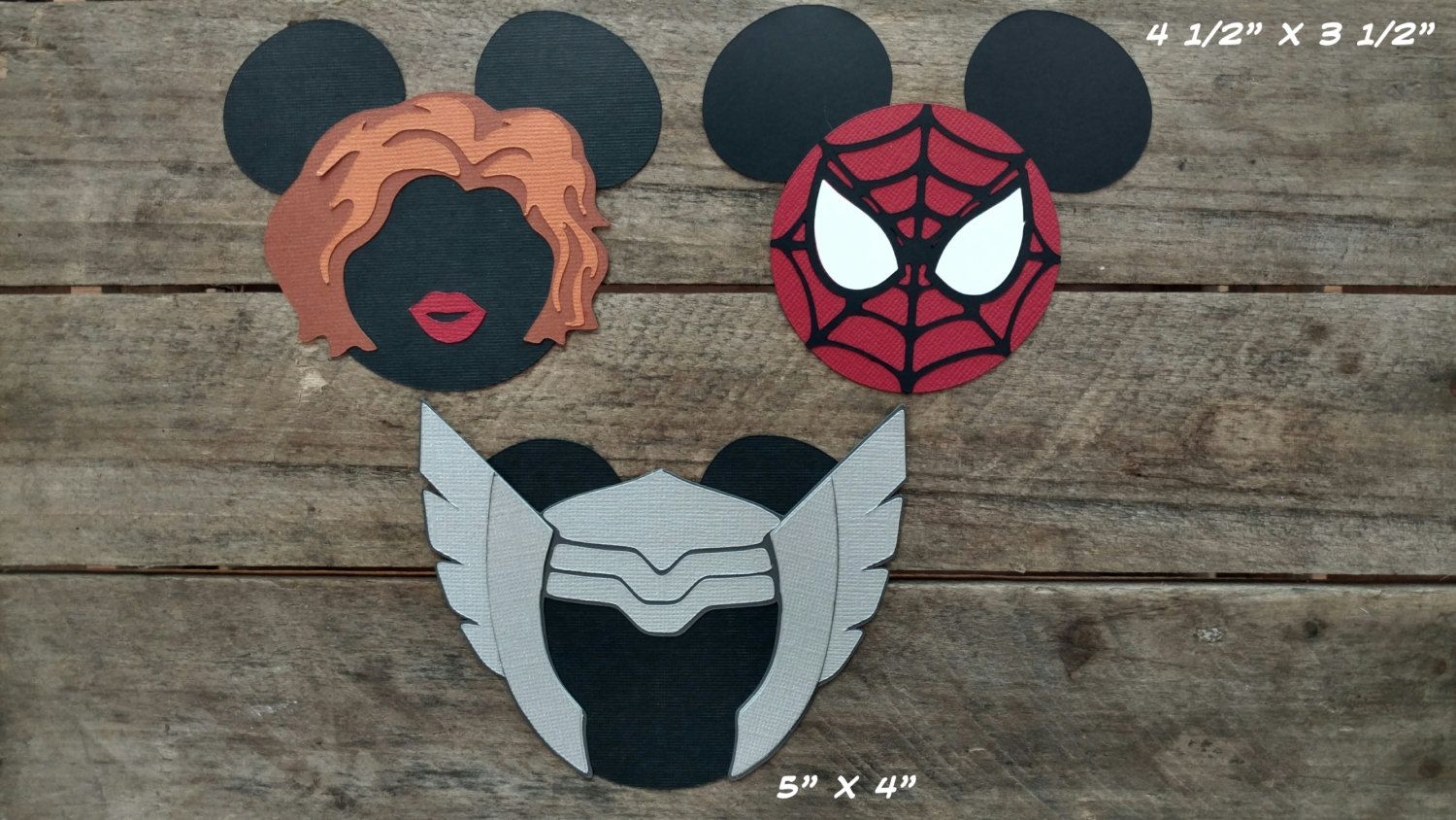 Disney Super Heroes Scrapbooking Embellishments or Window Decorations by ScrapWithMeToo on Etsy