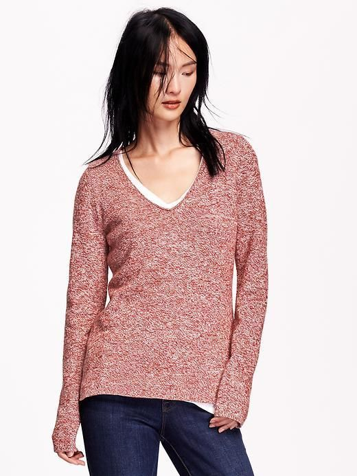 0a9c7dab7e7 Classic Marled V-Neck Sweater