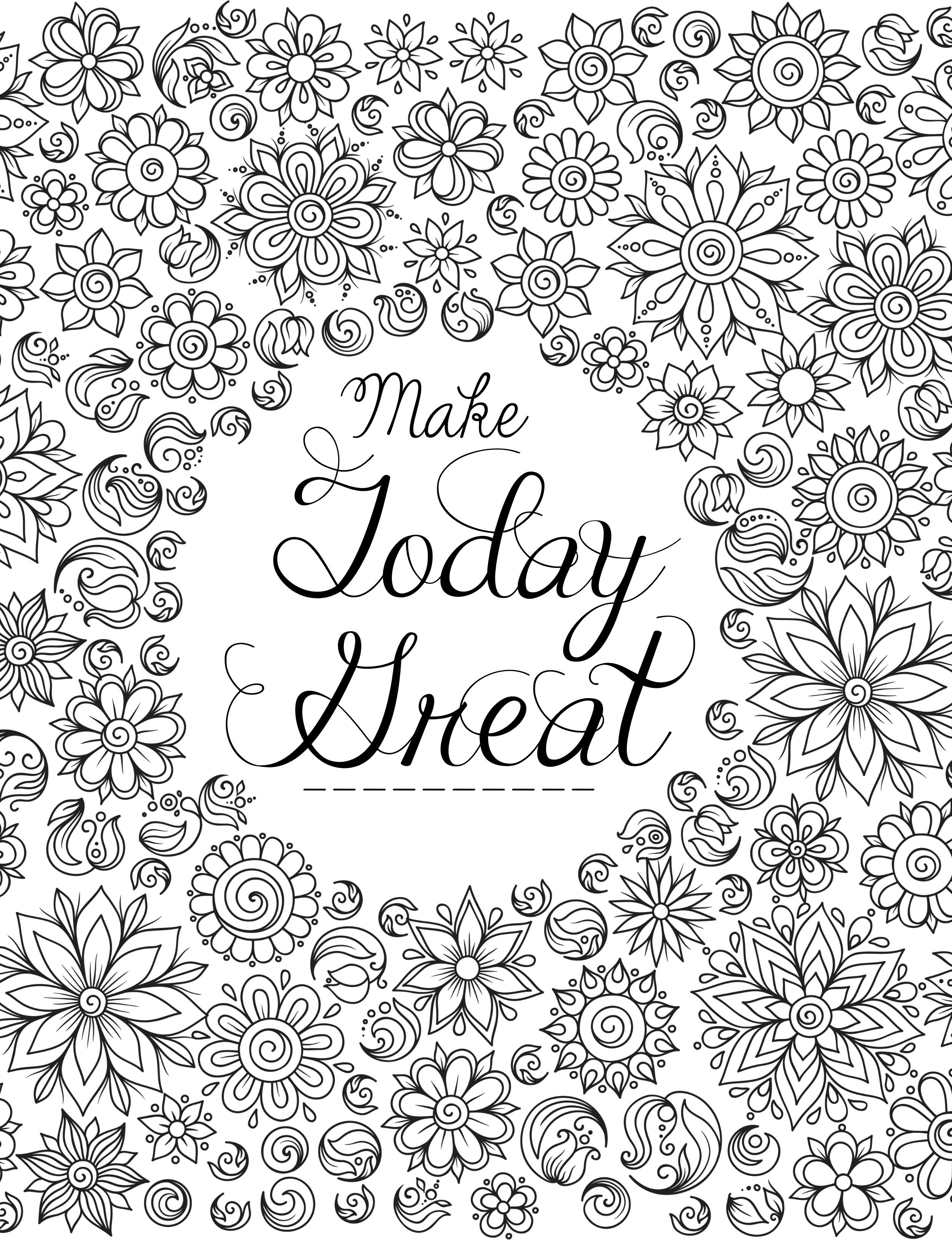 20 Gorgeous Free Printable Adult Coloring Pages Coloring Floral