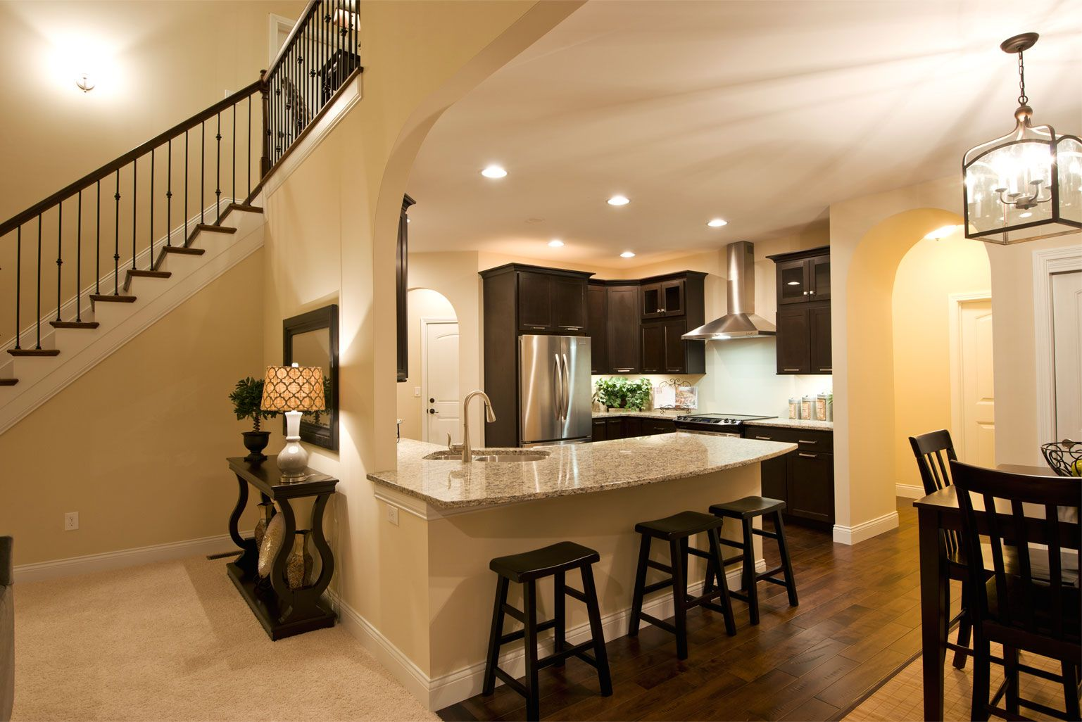Model Homes Kitchens Home Builders In Cincinnati Custom Home Gallery Kitchens Pinterest
