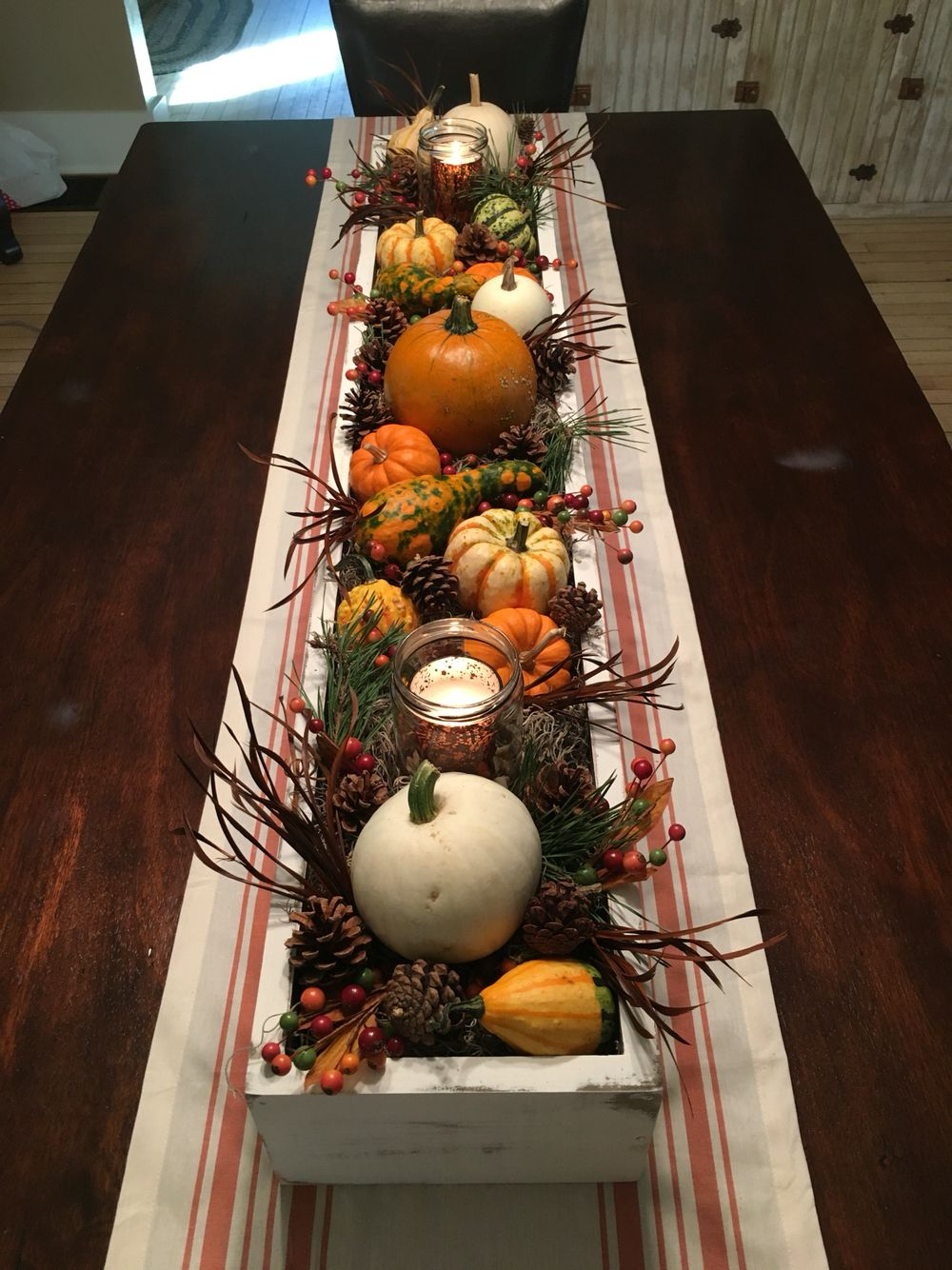 Harvest table. My version of a Pinterest inspiration
