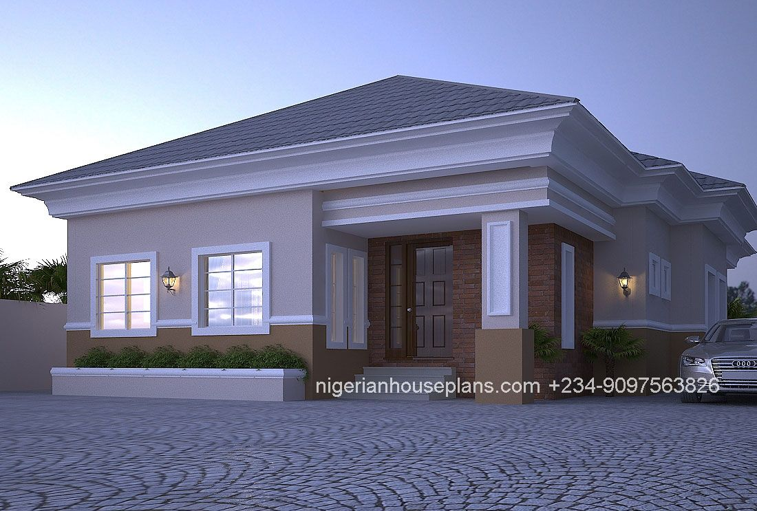 4 Bedroom Bungalow Ref 4012 Modern Bungalow House Bungalow House Design Bungalow Design