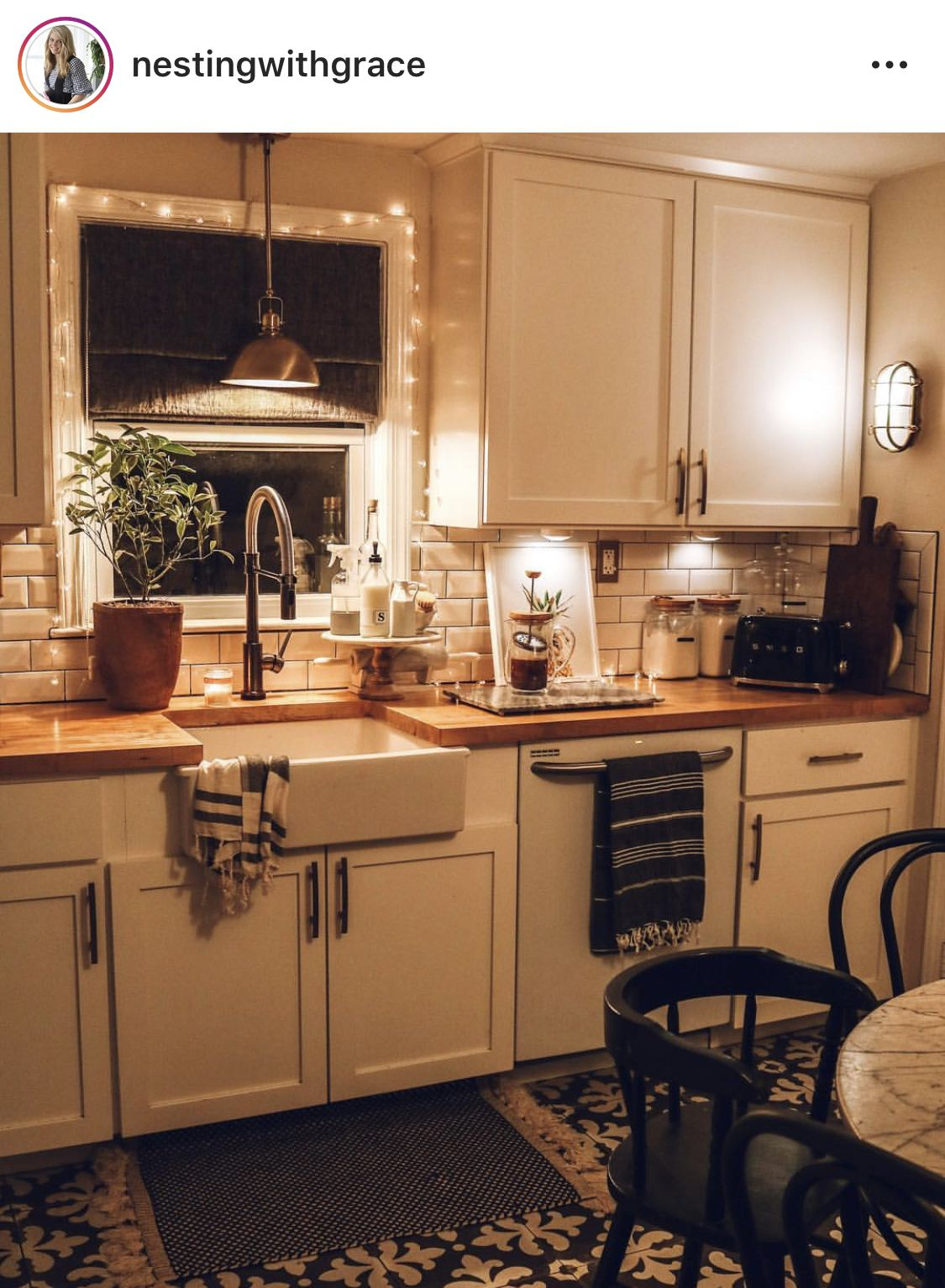Twinkle Lights Around The Kitchen Window Battery Operated Push Lights Under Cabinets Light Kitchen Cabinets Kitchen Decor Home Decor Kitchen
