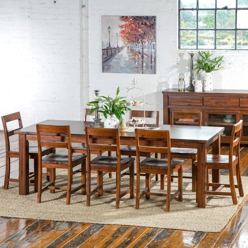 Manchester 2400 Dining Package (Table: 2400W x 900D x 790H mm;  Chairs: 465W x 495D x 1050H mm) RRP $1,999