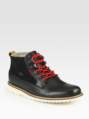 9663383a9 Lacoste Delevan Lace-Up Boots