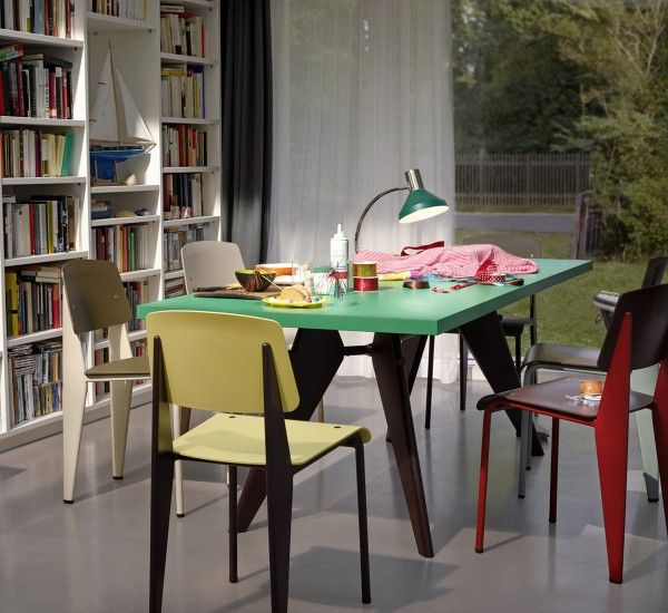 EM Table by Vitra, is a table designed by Jean Prouvé in 1950 which