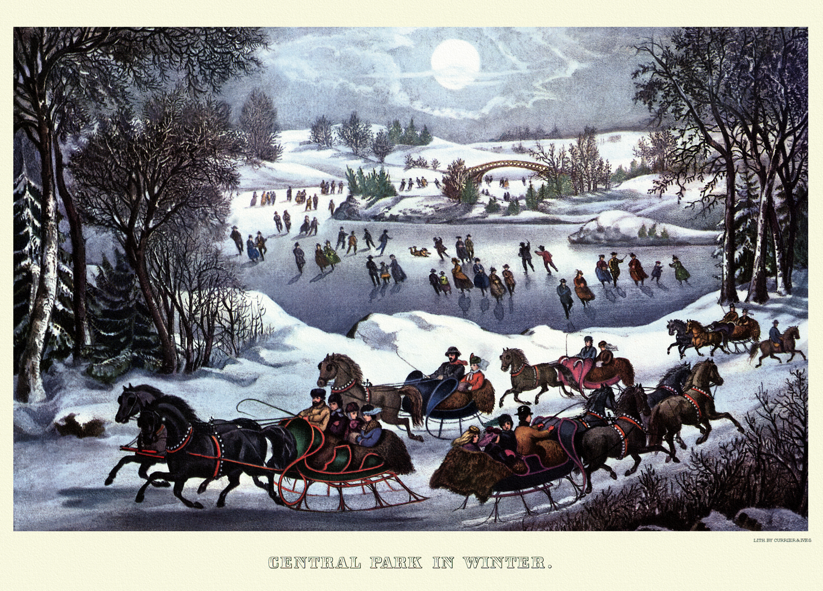 Delivering Gifts Americana Art Winter Art Christmas Art