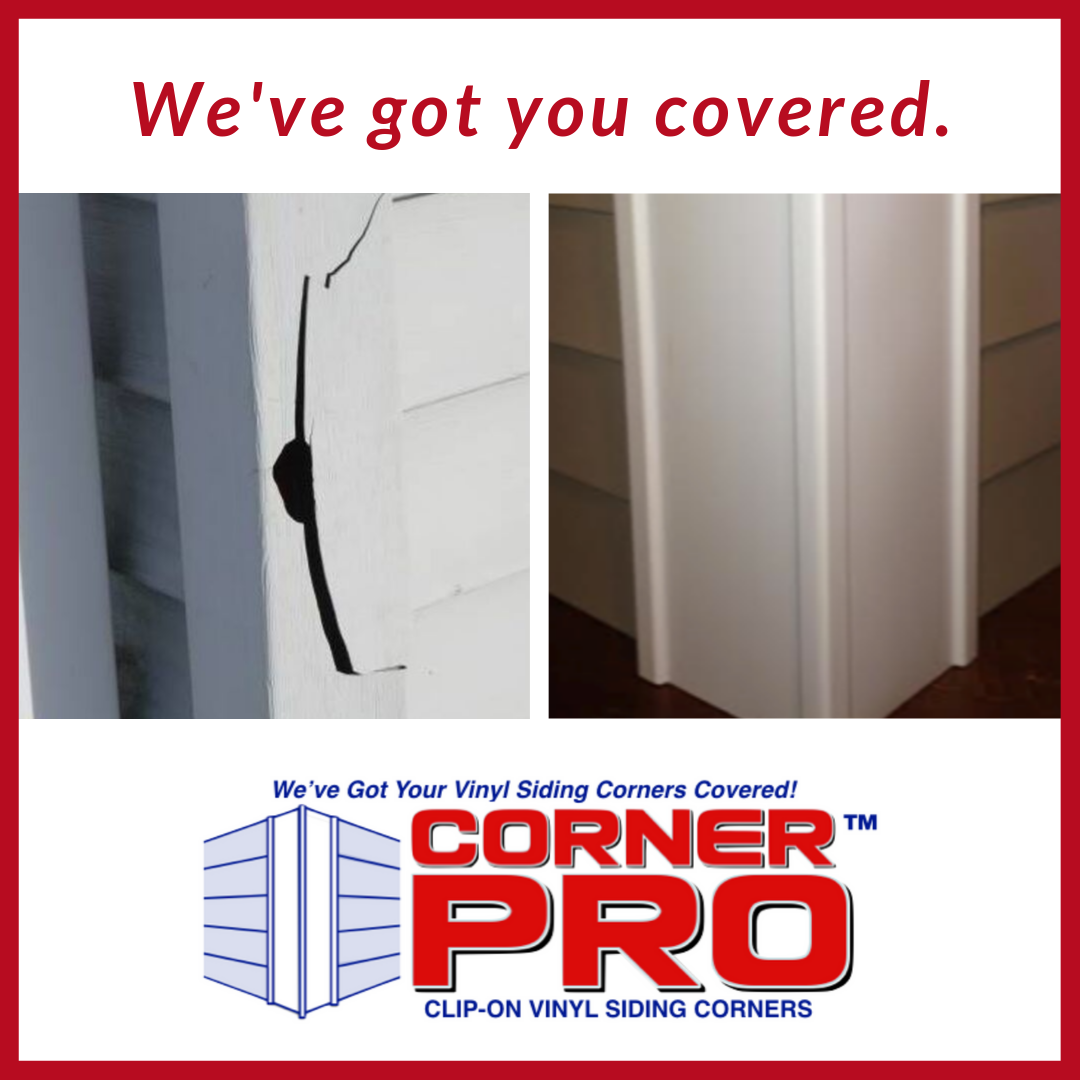 Fix Those Broken Corners Quick And Completely Diy With Corner Pro Clip On Vinyl Siding Corners Learn More About Our Amazing Product Vinyl Siding Vinyl Siding