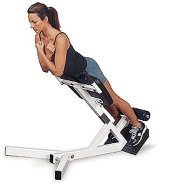roman chair back extension muscles steel frame routine 1 session 2 exercise 5