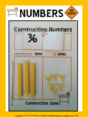 Unidades, decenas e idea aplicable para centenas. Constructing Numbers  . . . An Independent Self-Correcting Place Value Station