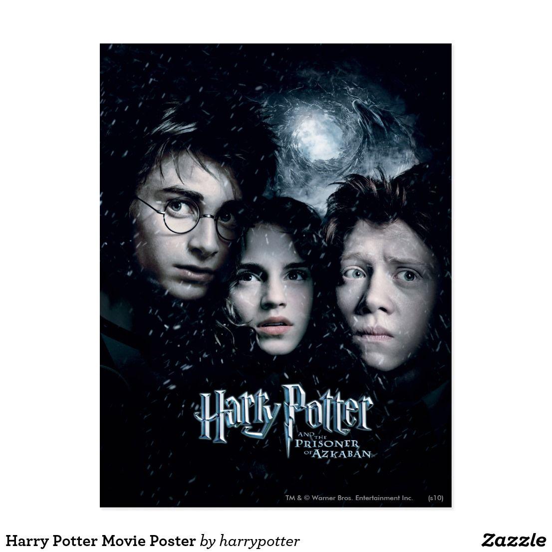 Harry Potter Et Le Prisonnier D Azkaban Film Harry Potter Movie Poster Postcard Zazzle Com Harry Potter Movie Posters Harry Potter Movies Harry Potter Poster