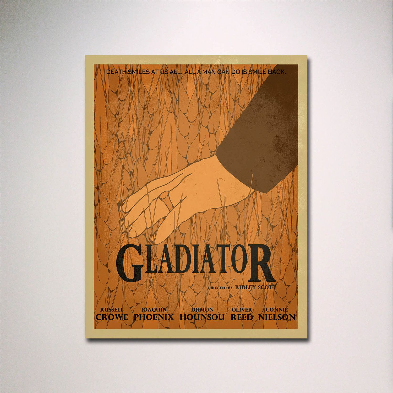Movie Room Art is part of Minimalist movie poster, Movie posters minimalist, Movie posters, Theatre poster, Movie room, Gladiator - What we do in life echoes in eternity    My name is Gladiator   This is an original minimalist movie poster inspired by the film, Gladiator   This listing is for a poster printed on highquality photo paper  We use only archival quality paper and inks, made to last well over a century! Select your size and price option before adding to cart  Please contact us prior to purchasing if you need your order by a certain date  We can make custom posters on request! Any size! Any color! Even color matching! Let me know if you would like us to create a custom listing   Thanks for shopping!