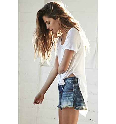 Bullhead Denim Co. Womens Slouchy Destroyed Cut-Off Denim Shorts