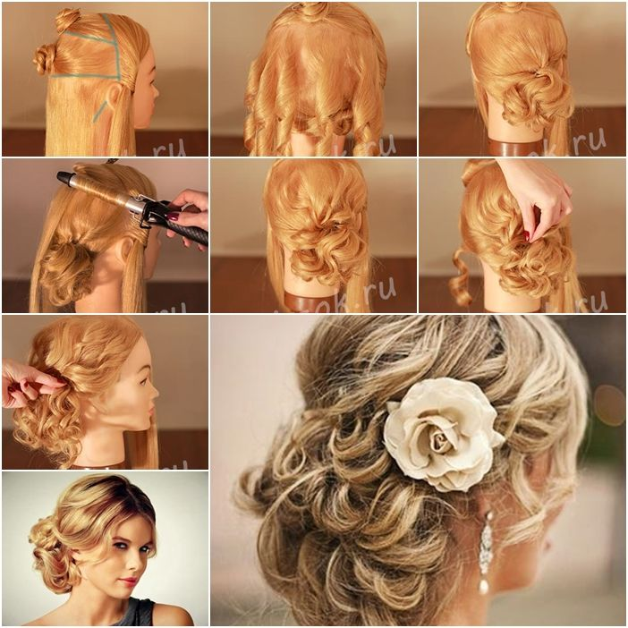 How To Make Red Carpet Looking Updo Wedding Hairstyle Tutorial And Instruction Follow Us