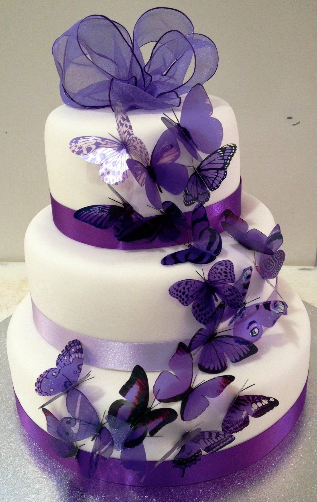 25 Purple Wedding Decorations Ideas Butterfly Wedding Cake