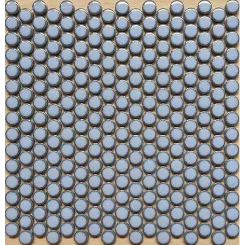 "Penny Round Tile Light Blue Porcelain Floor Tiles 3/5"" Ceramic Mosaic Backsplash"