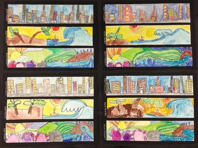 Scape Drawings Homeschool Art Elementary Art Projects
