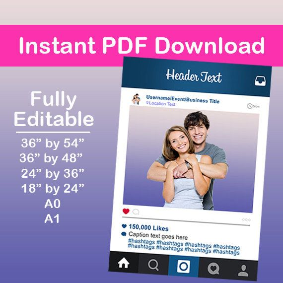 Instagram Frame, Photo Booth, Instagram Download, Photo Booth Prop ...