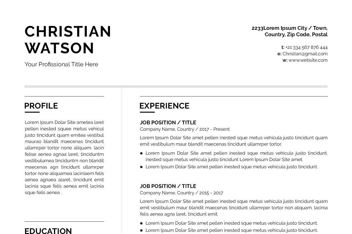 Clean resumecv clean resume resume cv resume
